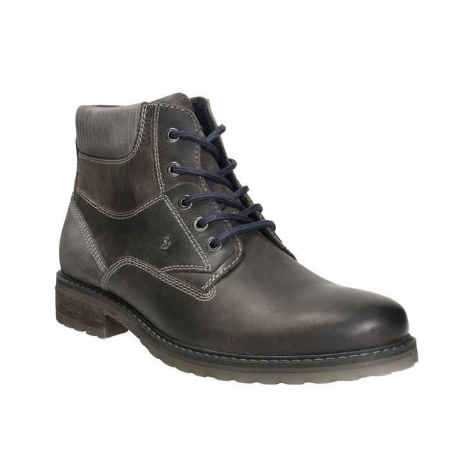 Kožená obuv ke kotníkům bata, šedá, 894-2643 - 13