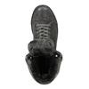 Kožené kotníčkové tenisky s kožíškem bata, šedá, 593-2601 - 19