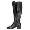 Dámské kožené kozačky na nízkém podpatku bata, černá, 694-6631 - 19