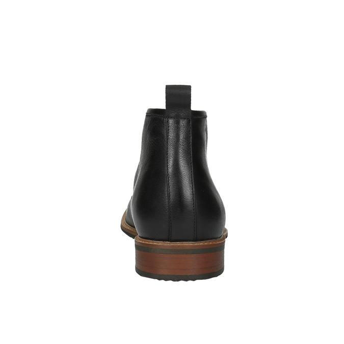 Kožená kotníčková obuv bata, černá, 894-6665 - 17
