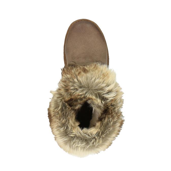 Dámská zimní obuv s kožíškem bata, hnědá, 591-3605 - 19
