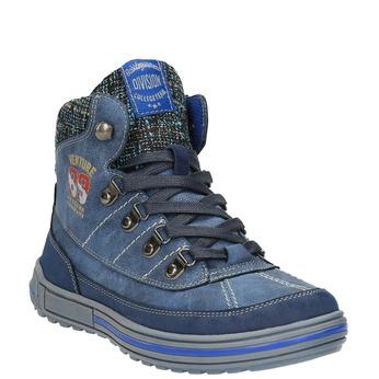 Dětská kotníčková obuv se zateplením mini-b, modrá, 491-9651 - 13