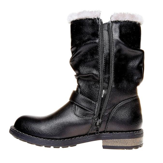 Dětské zimní kozačky mini-b, černá, 391-6245 - 19