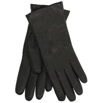 Kožené rukavice s vlněnou podšívkou junek, černá, 924-6049 - 13
