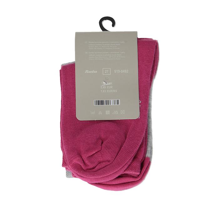 Dětské barevné ponožky 3 páry bata, 919-0492 - 15
