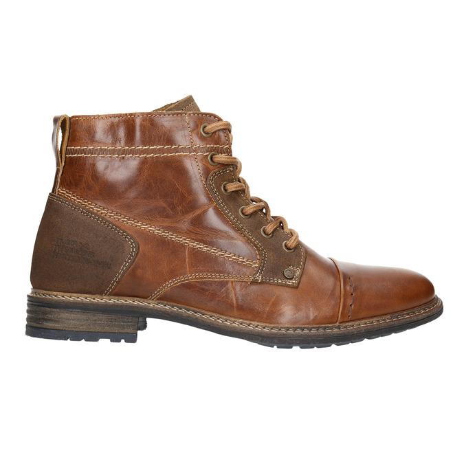Kožená kotníčková obuv pánská bata, hnědá, 894-4621 - 15