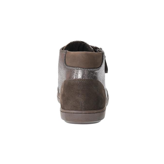 Dámské kožené kotníčkové tenisky bata, hnědá, 596-4613 - 17