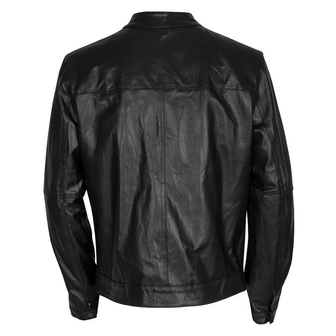 Pánská kožená bunda se stylovým prošitím bata, černá, 974-6142 - 26