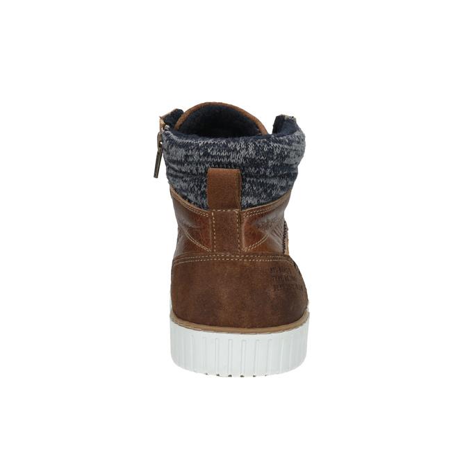 Pánské kotníčkové tenisky bata, hnědá, 846-3615 - 17