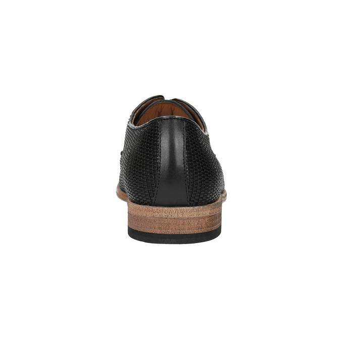 Celokožené pánské polobotky černé bata, černá, 826-6776 - 17