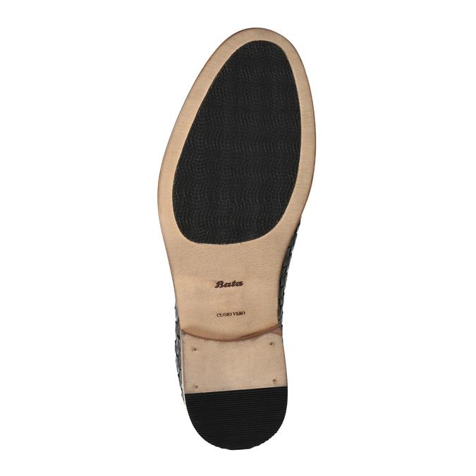 Celokožené polobotky s pleteným vzorem bata, hnědá, 826-4775 - 26