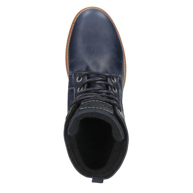 Kožená kotníčková obuv na ležérní podešvi bata, modrá, 894-2660 - 19