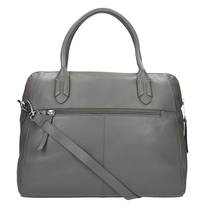 Šedá kožená kabelka gabor-bags, šedá, 964-2001 - 19