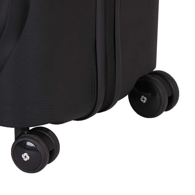Černý cestovní kufr na kolečkách samsonite, černá, 960-6114 - 19