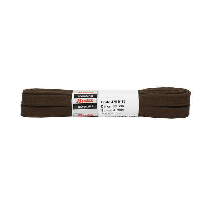 Široké hnědé tkaničky bata, hnědá, 901-4401 - 13