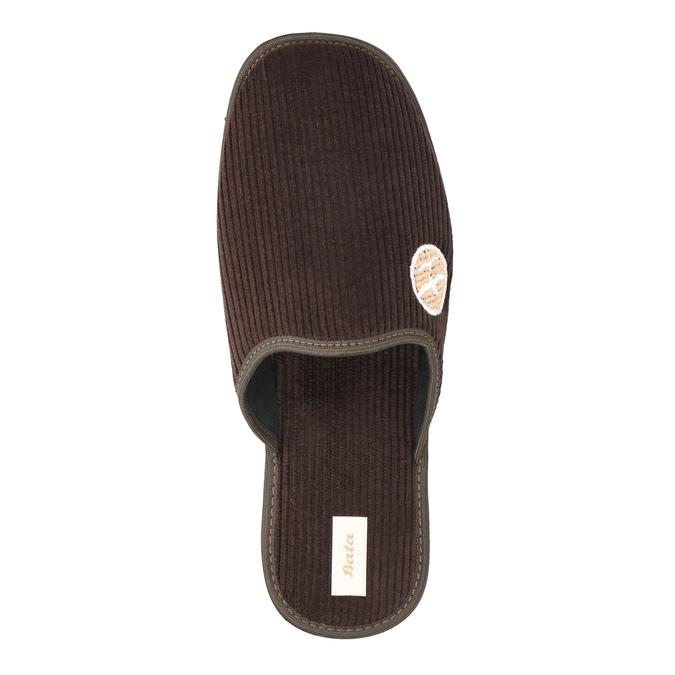 Pánská domácí obuv s plnou špicí bata, hnědá, 879-4609 - 19