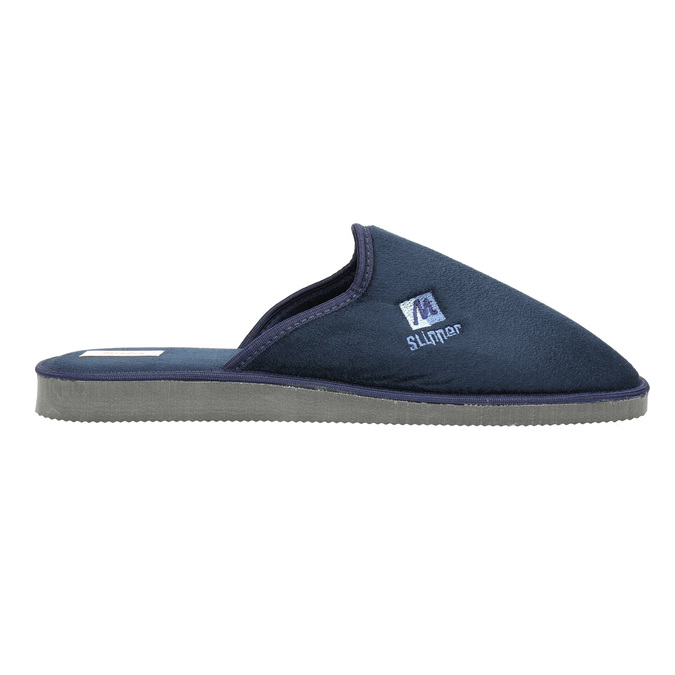 Pánská domácí obuv s plnou špicí bata, modrá, 879-9605 - 15
