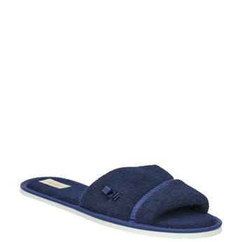 Dámská domácí obuv s mašličkou bata, modrá, 579-9609 - 13
