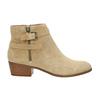 Dámská kotníčková obuv z broušené kůže bata, béžová, 693-1600 - 15