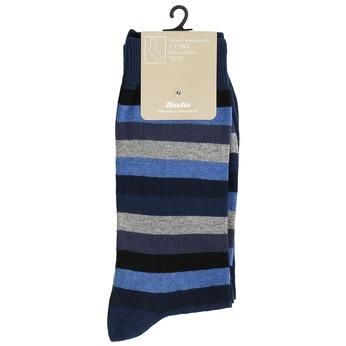 Pánské ponožky 2 páry bata, modrá, 919-9411 - 13