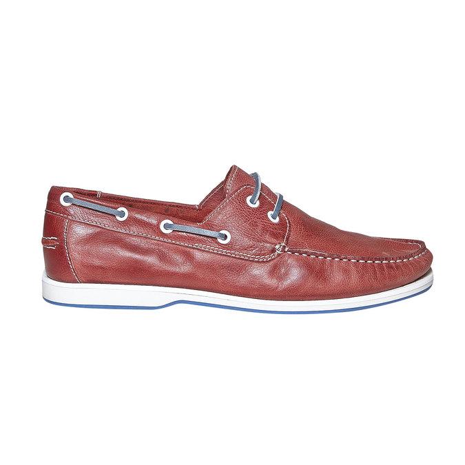 Pánské kožené mokasíny bata, červená, 854-5188 - 15