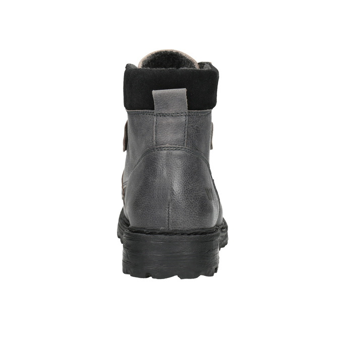 Kožené kotníčkové boty na výrazné podešvi weinbrenner, šedá, 896-2110 - 17