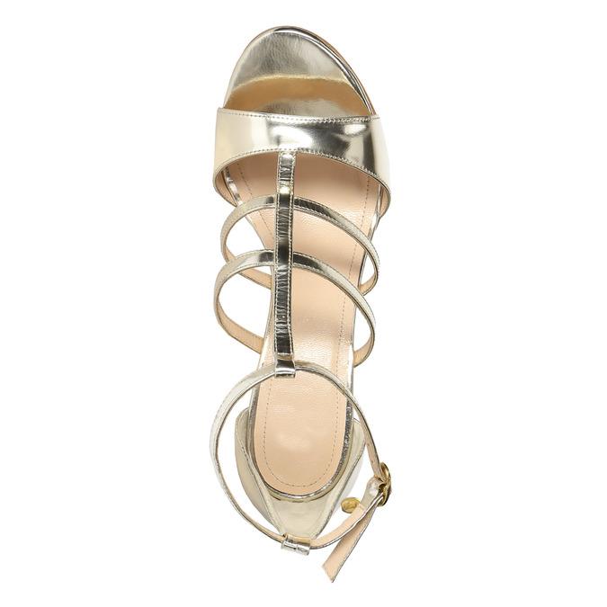 Zlaté kožené sandálky bata, zlatá, 2020-728-8644 - 19