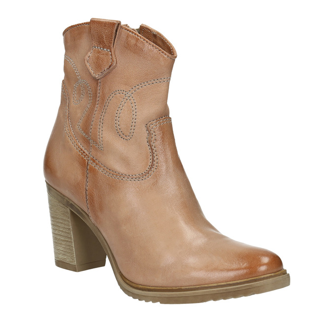Kožené kozačky ve western stylu bata, 2021-796-3642 - 13