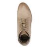 Kožená kotníčková obuv s perforovaným vzorem bata, hnědá, 596-4646 - 19
