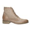 Kožená kotníčková obuv s perforovaným vzorem bata, hnědá, 596-4646 - 15