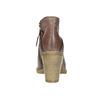 Kožené kotníčkové kozačky s rozevřeným zipem bata, hnědá, 796-5641 - 17