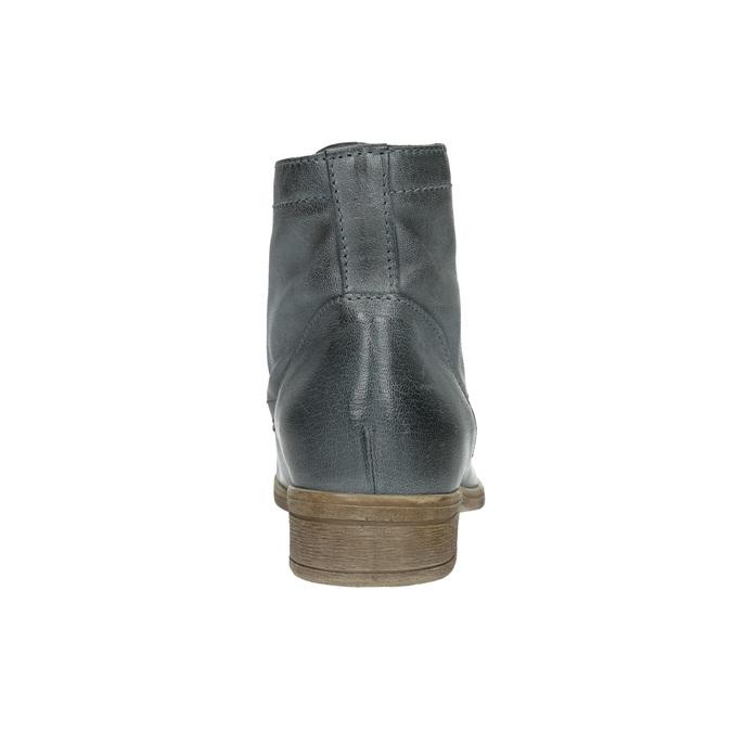 Kožená kotníčková obuv modrá bata, modrá, 2021-596-9646 - 17