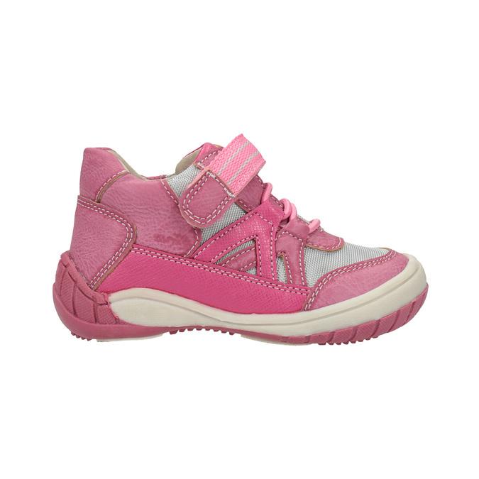 Dětská kotníčková obuv růžová bubblegummers, růžová, 121-5615 - 15
