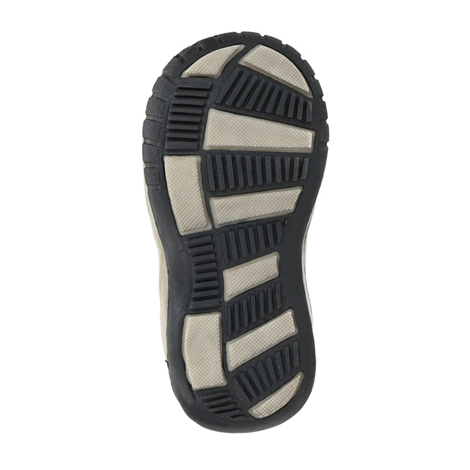 Dětská kotníčková obuv se suchým zipem bubblegummers, šedá, 111-2616 - 26