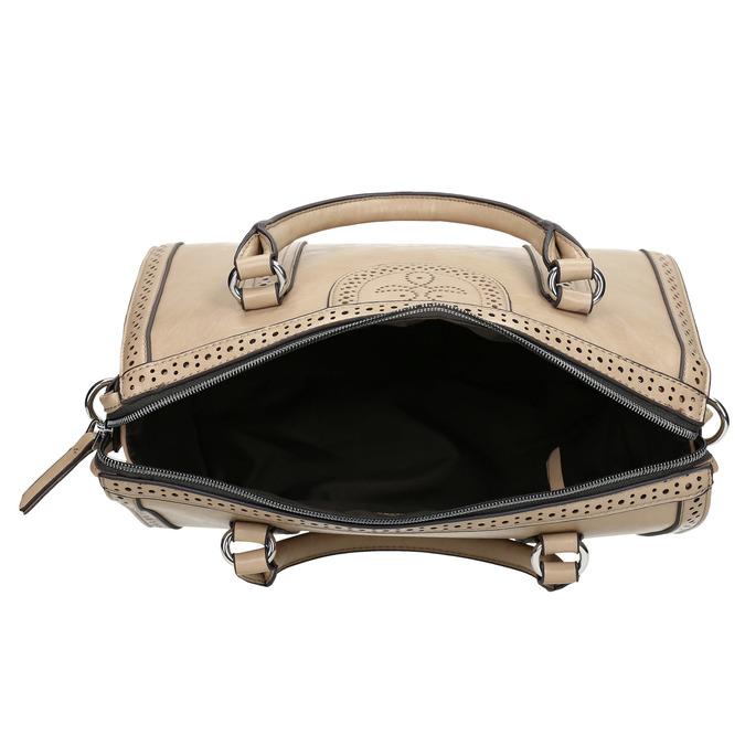Dámská kabelka s perforací bata, béžová, 961-8868 - 15