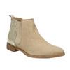 Kožené kotníčkové kozačky s pružnými boky bata, béžová, 596-4652 - 13