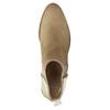 Kožené kotníčkové kozačky s pružnými boky bata, béžová, 596-4652 - 19