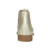 Kožené kotníčkové kozačky s pružnými boky bata, béžová, 596-4652 - 17
