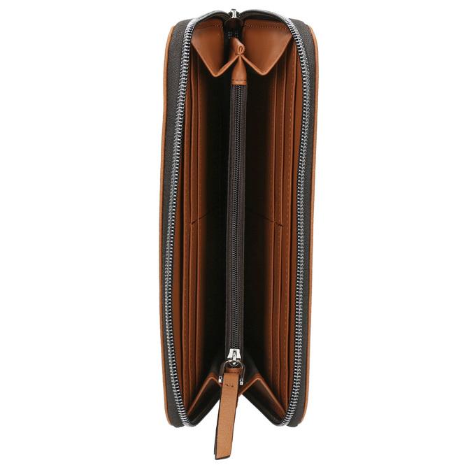 Hnědá peněženka s perforací bata, hnědá, 941-3154 - 15