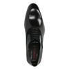 Černé kožené Oxford polobotky conhpol, černá, 824-6887 - 19
