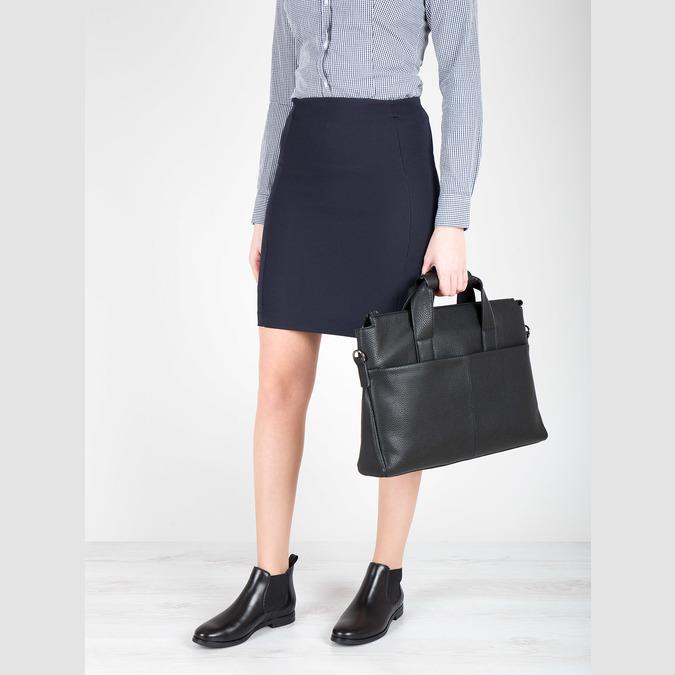 Kožená kotníčková obuv Chelsea bata, černá, 594-6604 - 18