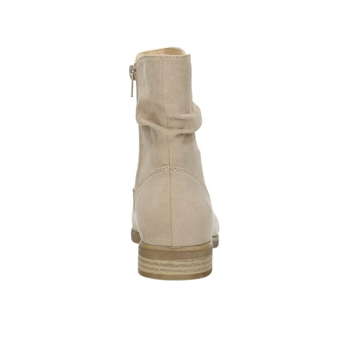Dámské kotníčkové kozačky bata, béžová, 599-8614 - 17