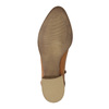 Kožené kotníčkové kozačky s perforací bata, 2021-596-4647 - 26