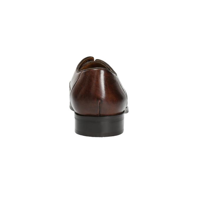 Hnědé kožené polobotky bata, hnědá, 826-4796 - 17