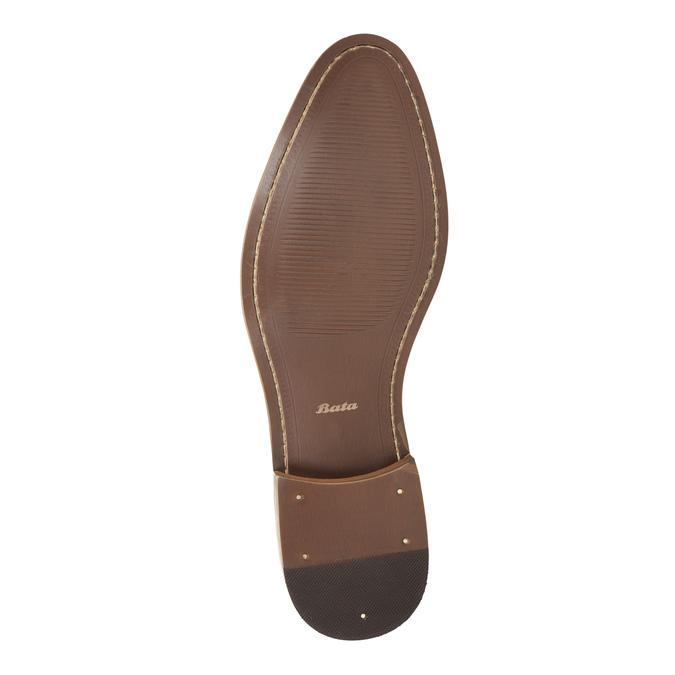 Hnědé kožené polobotky bata, hnědá, 826-8794 - 26