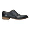 Modré kožené polobotky bata, modrá, 826-9794 - 15