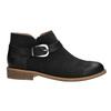 Kožená kotníčková obuv se sponou bata, černá, 596-6634 - 15