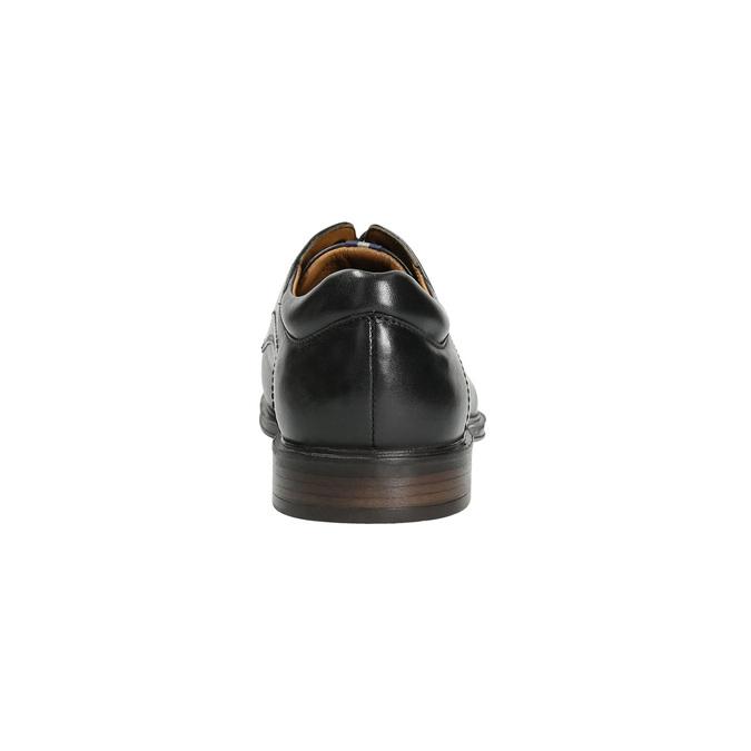 Pánské kožené polobotky černé bata, černá, 824-6800 - 17