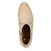 Kožené kotníčkové kozačky bata, béžová, 596-3633 - 19