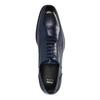 Modré kožené Oxford polobotky bata, modrá, 826-9822 - 19